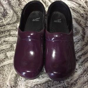 Dansko Clogs girls size 2 purple